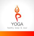 yoga logo vector image vector image