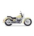 flat vintage motorcycle vector image