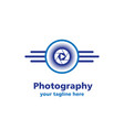 camera sun photography business logo vector image