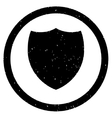 Shield Icon Rubber Stamp vector image