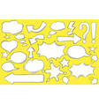 white comic bubbles for text in pop art style vector image