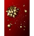 Luxury abstract background template with confetti vector image