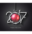 2017 Happy New Year Background for your Flyers vector image