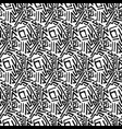 abstract seamless pattern linear hand drawn motif vector image vector image