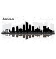 amman jordan city skyline silhouette with black
