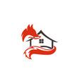animal fox real estate home vector image vector image