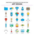art and design flat line icon set - business vector image