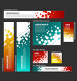 banner templates collection with abstract square vector image vector image