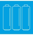 Battery thin line icons vector image