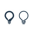 bulb icons with speech bubble vector image vector image