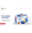 business accounting and financial audit vector image