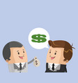 businessmen talking with money vector image