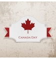 Canada Day Holiday Emblem with Ribbon vector image vector image