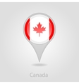 Canada flag pin map icon vector image