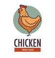 chicken fresh meat promotional logotype with vector image