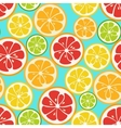 Colorful seamless pattern with lime orange and vector image vector image