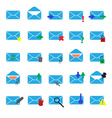 computer mail simple light blue icons eps10 vector image