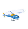 cute blue funny helicopter cartoon character vector image vector image