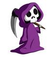 cute grim reaper vector image vector image
