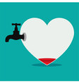 Defeated Heart vector image vector image