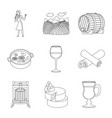 design drink and manufacturing logo set vector image vector image