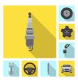design of auto and part symbol set of auto vector image