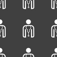 doctor icon sign Seamless pattern on a gray vector image vector image