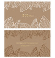 eco style business card back and front vector image vector image