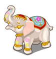 figurine indian white elephant isolated vector image