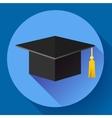 Graduation cap icon Flat design style vector image vector image