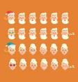 grandparents emotion set vector image vector image