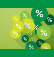 green mark percent discount spring promotion vector image vector image