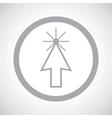 Grey arrow cursor sign icon vector image vector image