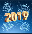 happy new year card template vector image vector image