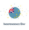 independence day of tuvalu patriotic banner vector image