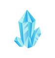 light blue crystal precious gemstone or vector image vector image