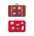 luggage traveling bags and stickers set vector image vector image