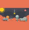 mars exploration adventure vector image vector image