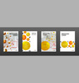 medical brochure cover templates set vector image