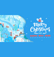 merry christmas greeting card with winter vector image vector image