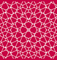 mesh seamless pattern red and white background vector image vector image