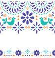 mexican folk art greeting card invitation vector image vector image