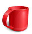 red empty cup vector image