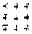 repair instrument icon set simple style vector image vector image