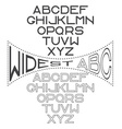 retro wide alphabet for labels vector image vector image
