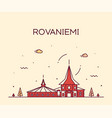 rovaniemi skyline finland city linear style vector image vector image