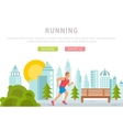 running man template vector image