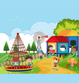 scene with kids playing in the playground vector image vector image