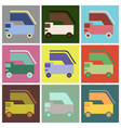 set of icons in flat design aircraft loader vector image