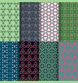 set of seamless decorative geometric shapes vector image